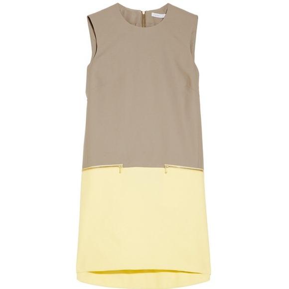 Victoria, Victoria Beckham Woman Ruched Cotton-blend Faille Mini Dress Black Size 10 Victoria Beckham